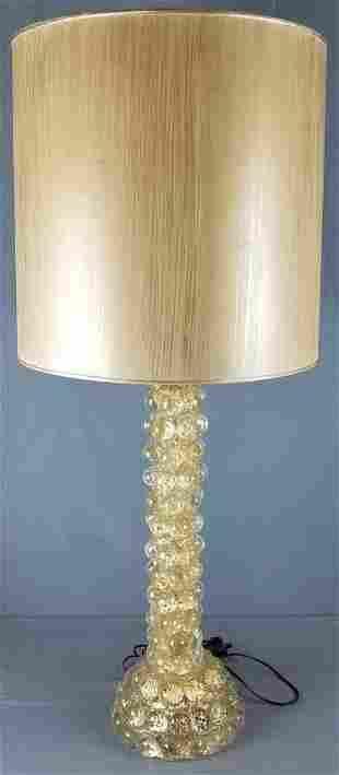 Murano Barovier & Toso mid century glass table lamp