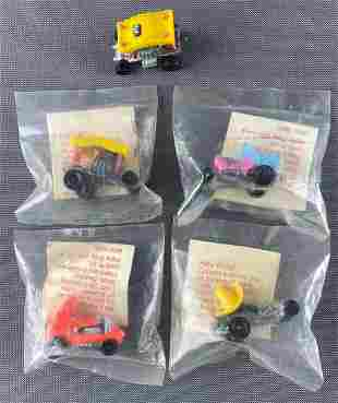 Group of 5 Hot Wheels Zowees Shell Oil Promo vehicles