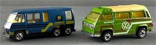 Group of 2 Leo Mattel Hot Wheels die-cast vehicles