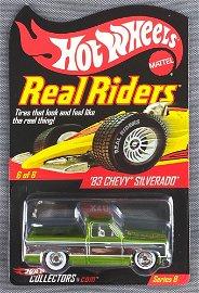 Hot Wheels Real Riders 83 Chevy Silverado