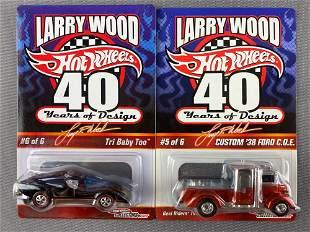 Group of 2 Hot Wheels Larry Wood die-cast vehicles