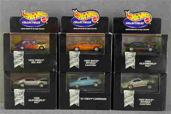 Group of 6 Hot Wheels Collectibles die-cast vehicles