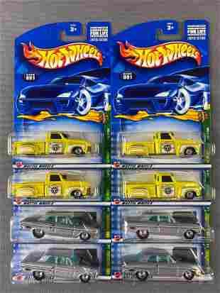 Group of 8 Hot Wheels 2002 Treasure Hunt die-cast