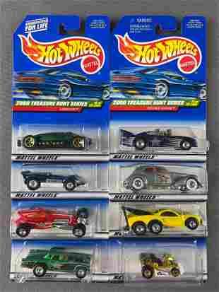 Group of 8 Hot Wheels 2000 Treasure Hunt die-cast