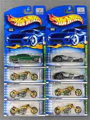 Group of 8 Hot Wheels 2001 Treasure Hunt die-cast