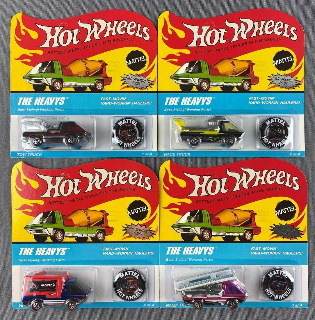 Group of 4 Hot Wheels The Heavys RLC 2008 Rewards