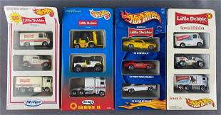 Group of 4 Hot Wheels/Little Debbie 3-vehicle sets