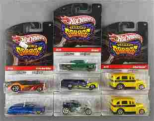 Partial shipping box of Hot Wheels Garage die-cast