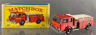 Matchbox No. 29 Fire Pumper Truck