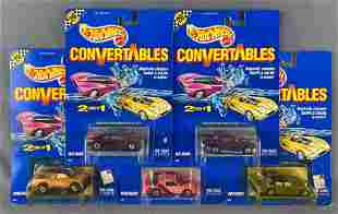 Group of 5 Hot Wheels Convertables die-cast and plastic