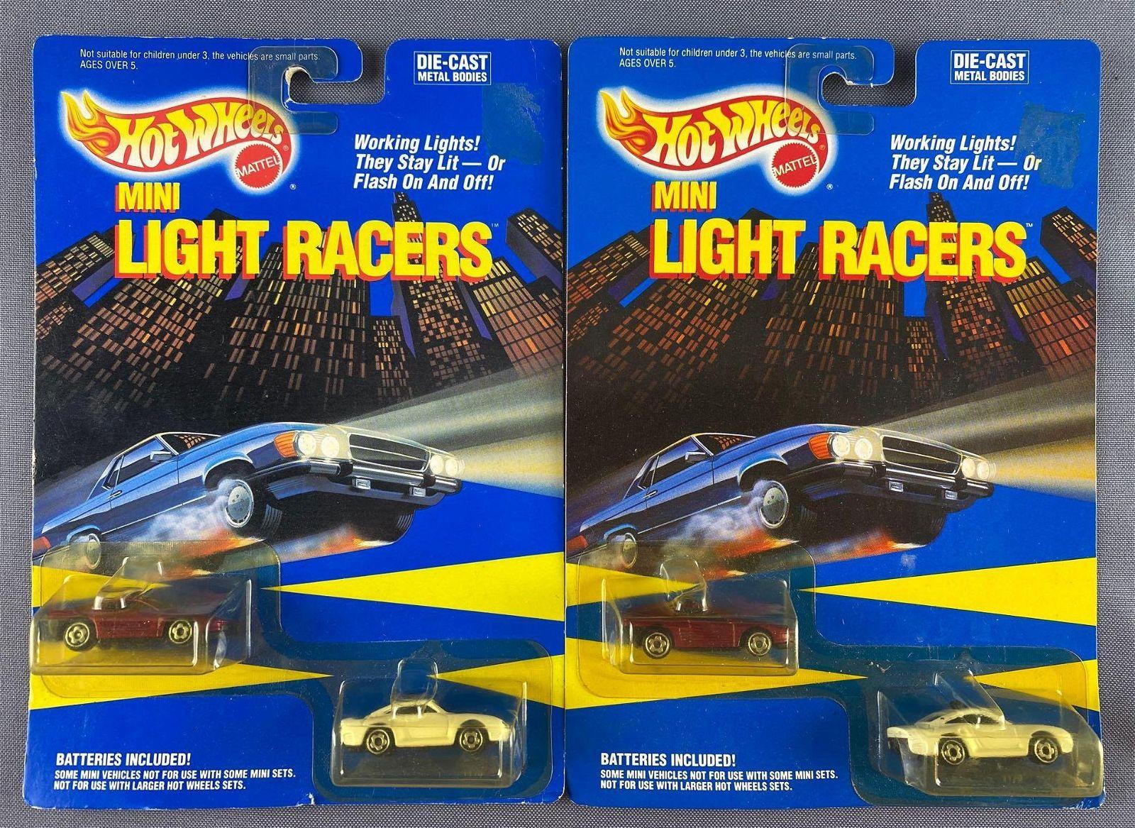 Group of 2 Hot Wheels Mini Light Racers 2–packs