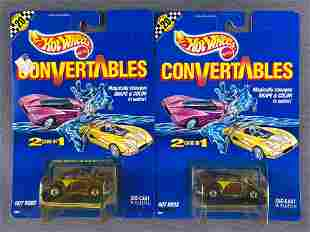 Group of 2 Hot Wheels Convertables die-cast and plastic