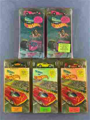 Group of 5 Heroes on Hot Wheels VHS/Vehicle sets