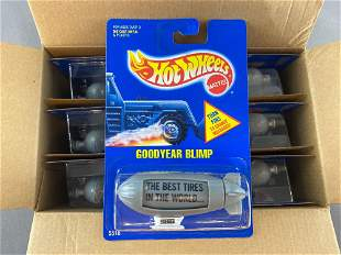 Full shipping box of Hot Wheels Goodyear Blimp