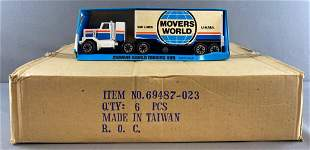 Full shipping box of Movers World Moving Van