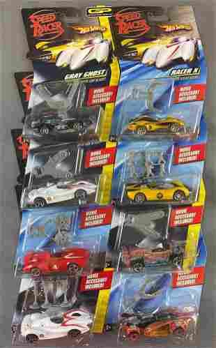 Group of 8 Hot Wheels Speed Racer die-cast vehicles