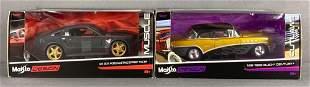 Group of 2 Maisto Design die-cast vehicles