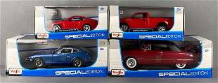Group of 4 Maisto Special Edition die-cast vehicles