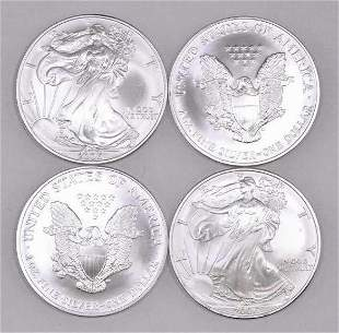 Group of (4) 2006 American Silver Eagle 1oz.