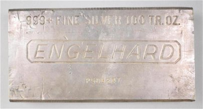 Engelhard 100oz. .999 Fine Silver Ingot/Bar