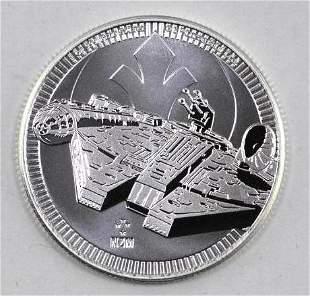 2021 $2 NIUE Star Wars Millennium Falcon 1oz. .999 Fine