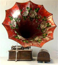 Antique Thomas Edison Model H Cylinder Home Phonograph