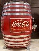 Vintage Coca Cola Barrel Soda Fountain Dispenser