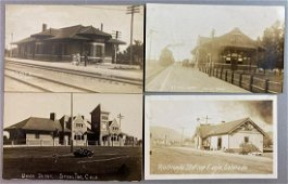 Postcards-Train Depot Colorado Real Photo