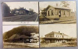 Postcards-Train Depots Pennsylvania Real Photo