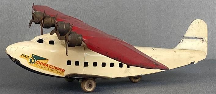 Wyandotte Pressed Steel PanAm China Clipper toy