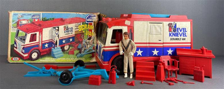 Ideal Toys Evel Knievel Scramble Van