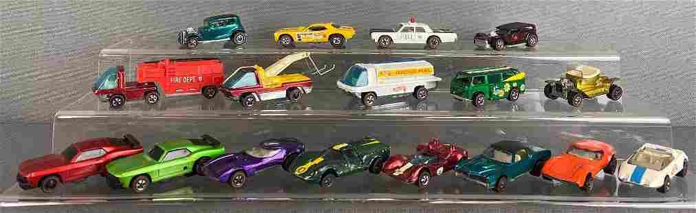 Group of 17 Hot Wheels Redline Die-Cast Vehicles