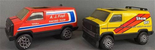 Group of 2 Tonka Toys pressed steel Vans