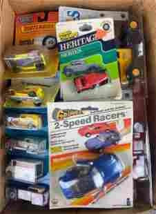 Group of appx 30 die-cast and plastic vehicles and more