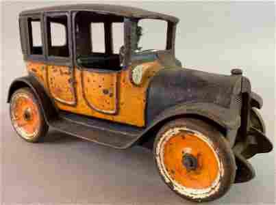Arcade Antique Cast Iron Car with Orange Body