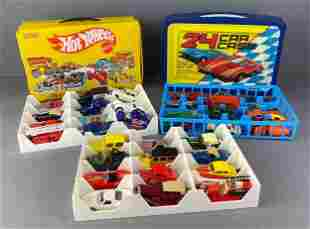 Group of Die Cast Vehicles in Collectors Cases