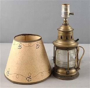Converted electric brass lantern