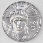 2021 $100 American Eagle 1oz. .9995 Fine Platinum