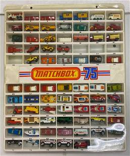 Matchbox Display and contents