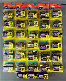 Group of 34 Matchbox Edition 75 Challenge Vehicles