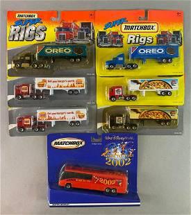 Group of 7 Super Matchbox Rigs Disney Bus