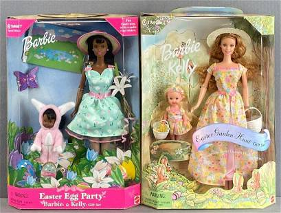 Group of 2 Target Exclusive Easter Barbie Fashion Doll