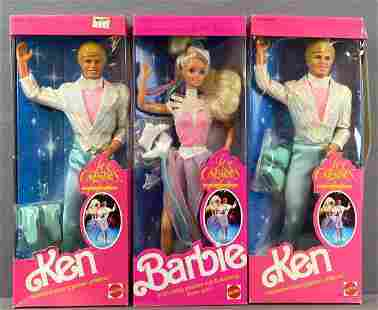 Group of 3 Ice Capades Barbie Fashion Dolls
