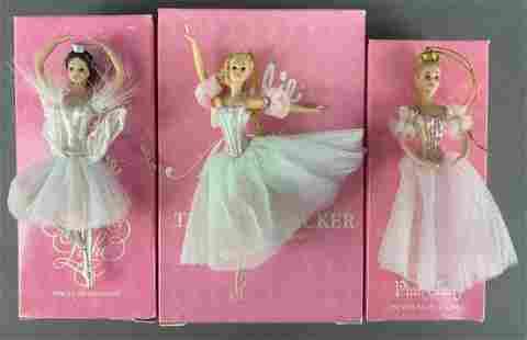 Group of 3 Avon Barbie porcelain Ornaments