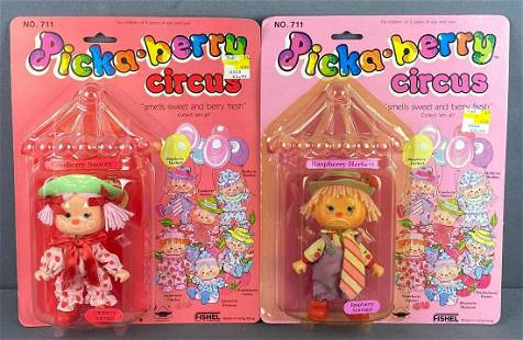 Group of 2 Picka-berry Circus dolls