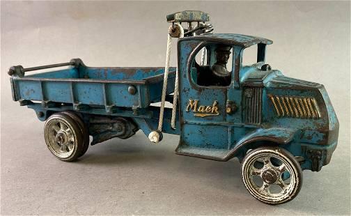 Antique Arcade Cast Iron Mack Dump Truck