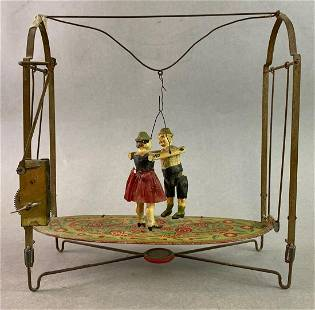 Tin Toy Wind Up Dancing Couple
