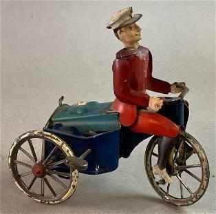 Lehmann Rad-Cycle Mars Wind Up Tin Toy