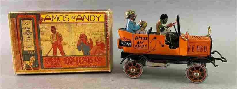 Repro Marx Amos and Andy Taxi Wind Up Tin Toy