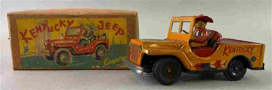 Cragston Kentucky Jeep Friction Tin Toy with box